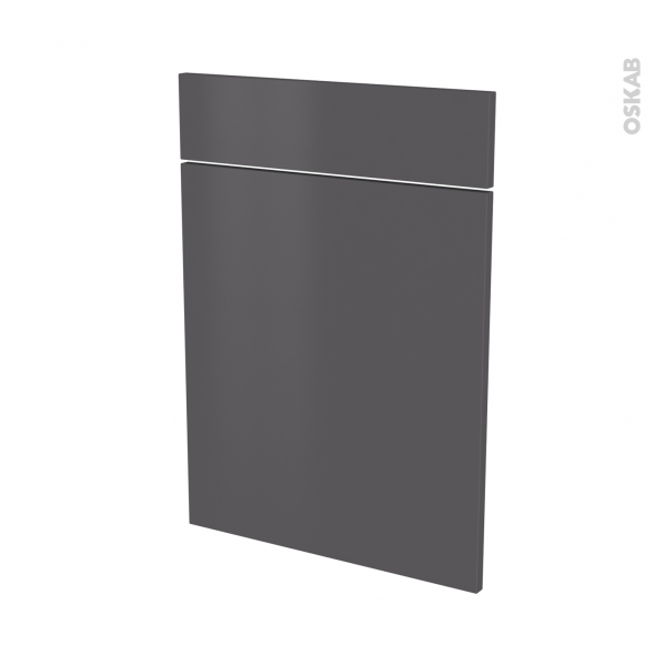 GINKO Gris - façade N°54 1 porte 1 tiroir - L50xH70