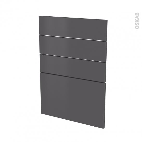 Façades de cuisine - 4 tiroirs N°55 - GINKO Gris - L50 x H70 cm