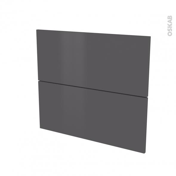 GINKO Gris - façade N°60 2 tiroirs - L80xH70
