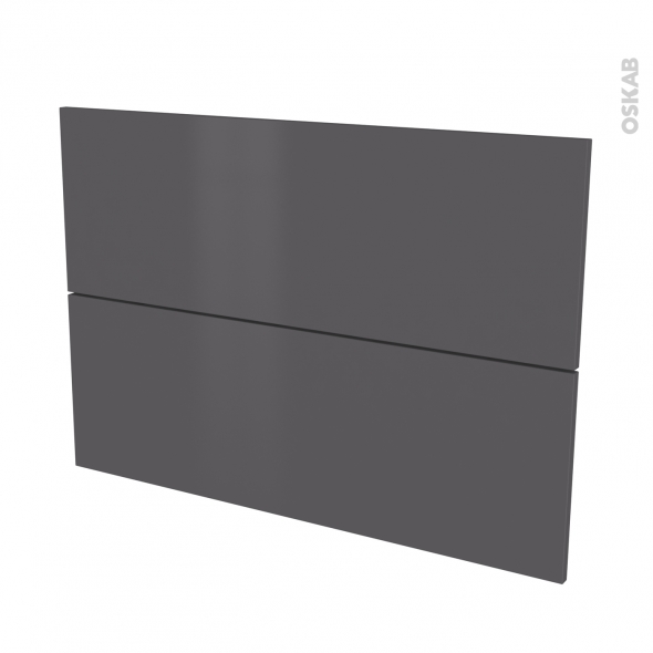 Façades de cuisine - 2 tiroirs N°61 - GINKO Gris - L100 x H70 cm