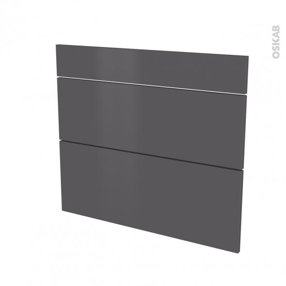 GINKO Gris - façade N°74 3 tiroirs - L80xH70