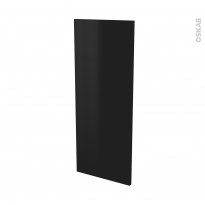 Finition cuisine Joue N°32 GINKO Noir, Avec sachet de fixation, L37 x H92 x Ep.1.6 cm