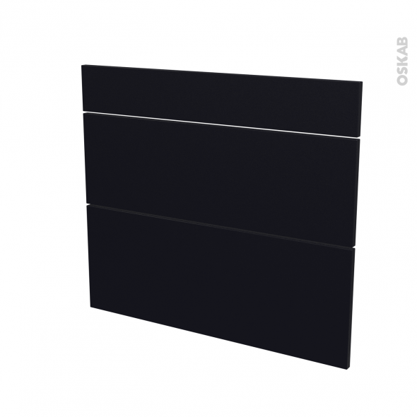 GINKO Noir - façade N°74 3 tiroirs - L80xH70