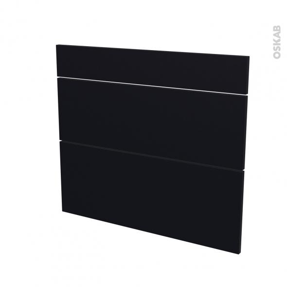 Façades de cuisine - 3 tiroirs N°74 - GINKO Noir - L80 x H70 cm