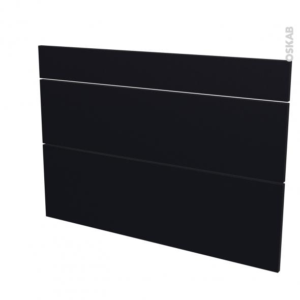Façades de cuisine - 3 tiroirs N°75 - GINKO Noir - L100 x H70 cm