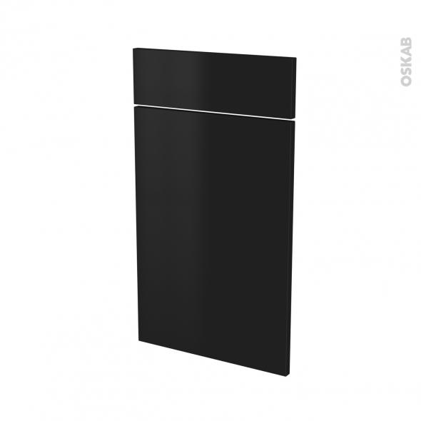 Façades de cuisine - 1 porte 1 tiroir N°51 - GINKO Noir - L40 x H70 cm