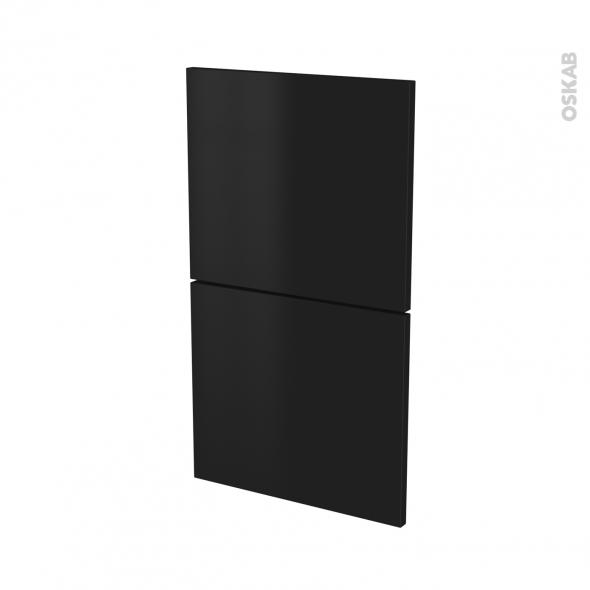 GINKO Noir - façade N°52  2 tiroirs - L40xH70