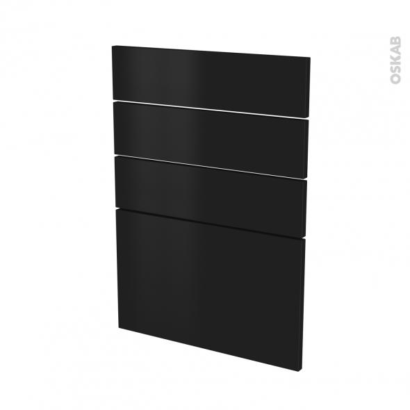 Façades de cuisine - 4 tiroirs N°55 - GINKO Noir - L50 x H70 cm