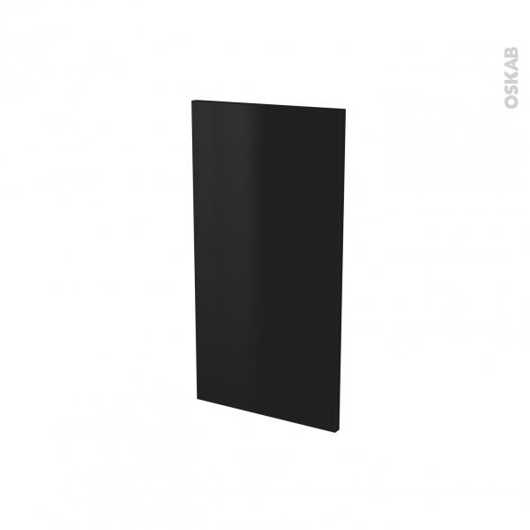 Finition cuisine - Joue N°30 - GINKO Noir - Avec sachet de fixation - A redécouper - L37 x H35 x Ep.1.6 cm