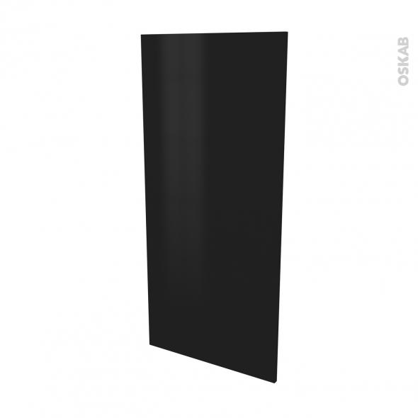 Finition cuisine - Joue N°33 - GINKO Noir - Avec sachet de fixation - L58 x H125 x Ep.1.6 cm