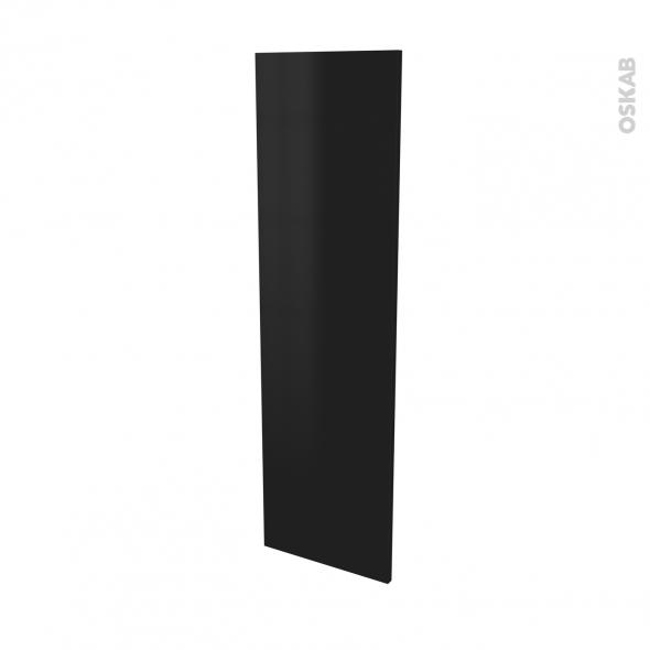 Finition cuisine - Joue N°34 - GINKO Noir - Avec sachet de fixation - L37 x H125 x Ep.1.6 cm