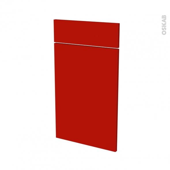 GINKO Rouge - façade N°51 1 porte 1 tiroir - L40xH70