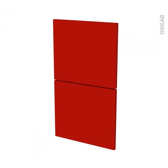 GINKO Rouge - façade N°52  2 tiroirs - L40xH70