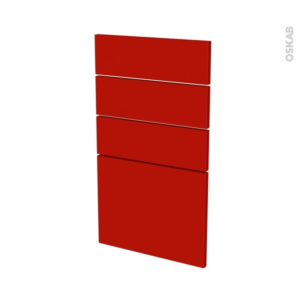 GINKO Rouge - façade N°53 4 tiroirs - L40xH70