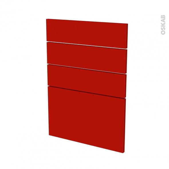 GINKO Rouge - façade N°55 4 tiroirs - L50xH70