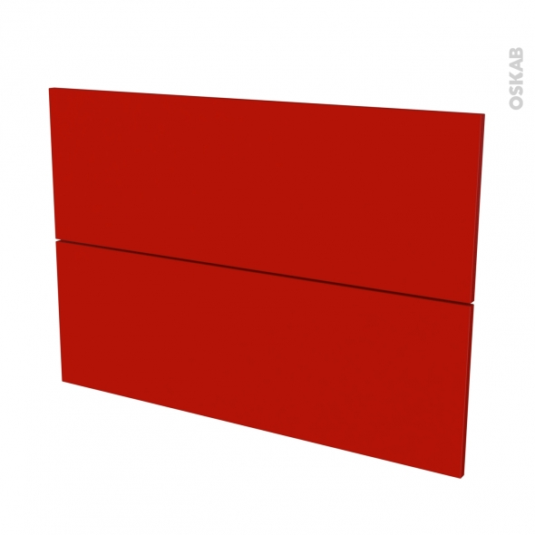 GINKO Rouge - façade N°61 2 tiroirs - L100xH70