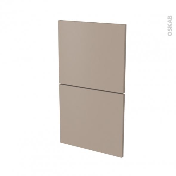Façades de cuisine - 2 tiroirs N°52 - GINKO Taupe - L40 x H70 cm