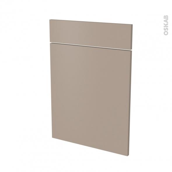 Façades de cuisine - 1 porte 1 tiroir N°54 - GINKO Taupe - L50 x H70 cm
