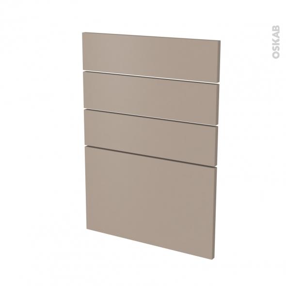 Façades de cuisine - 4 tiroirs N°55 - GINKO Taupe - L50 x H70 cm