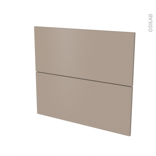 Façades de cuisine - 2 tiroirs N°60 - GINKO Taupe - L80 x H70 cm