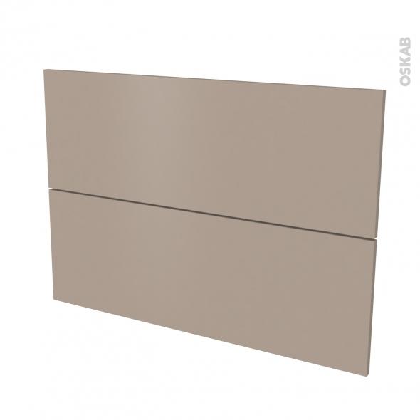Façades de cuisine - 2 tiroirs N°61 - GINKO Taupe - L100 x H70 cm