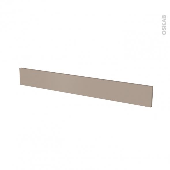 Façade de cuisine - Face tiroir N°43 - GINKO Taupe - L100 x H13 cm
