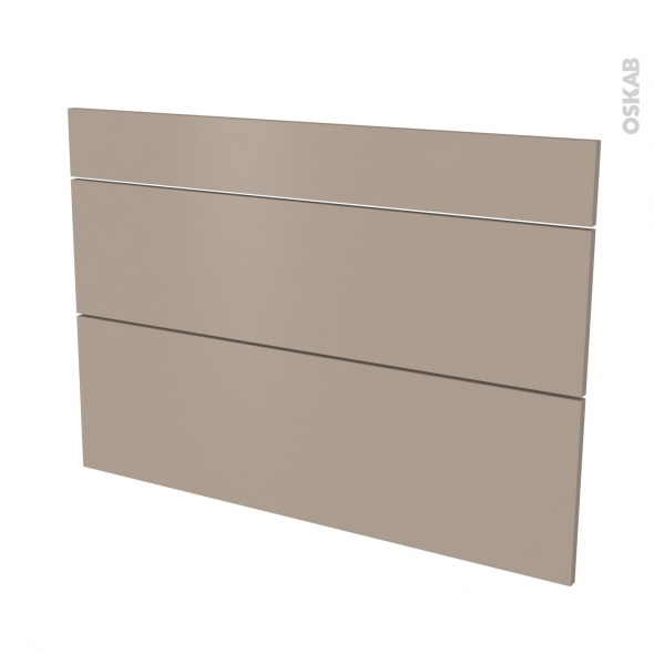 Façades de cuisine - 3 tiroirs N°75 - GINKO Taupe - L100 x H70 cm