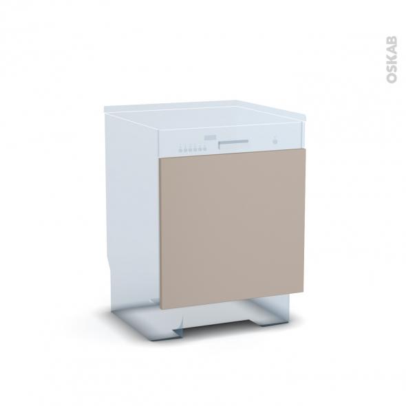 Porte lave vaiselle - Intégrable N°16 - GINKO Taupe - L60 x H57 cm