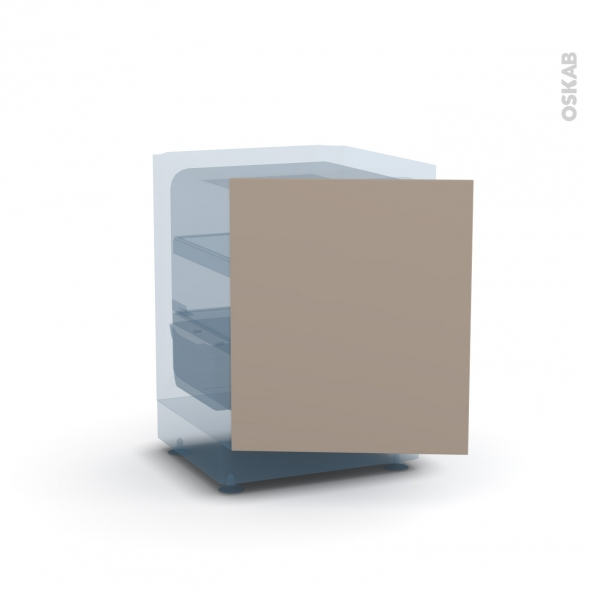 Porte frigo sous plan - Intégrable N°21 - GINKO Taupe - L60 x H70 cm