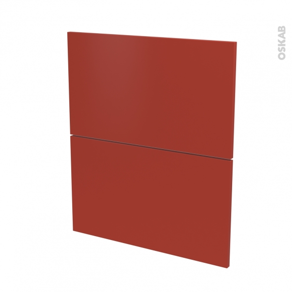 HELIO Rouge - façade N°57 2 tiroirs - L60xH70