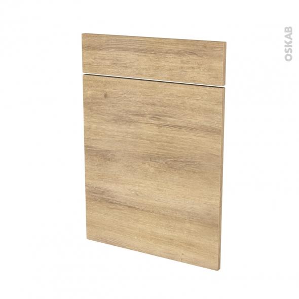 Façades de cuisine - 1 porte 1 tiroir N°54 - HOSTA Chêne naturel - L50 x H70 cm