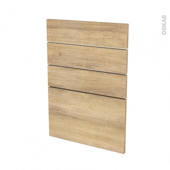 Façades de cuisine - 4 tiroirs N°55 - HOSTA Chêne naturel - L50 x H70 cm