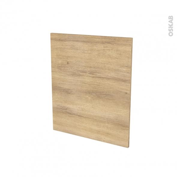 Porte lave linge - à repercer N°21 - HOSTA Chêne naturel - L60 x H70 cm