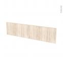 Façades de cuisine - Face tiroir N°41 - IKORO Chêne clair - L100 x H25 cm