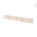 Façades de cuisine - Face tiroir N°43 - IKORO Chêne clair - L100 x H13 cm