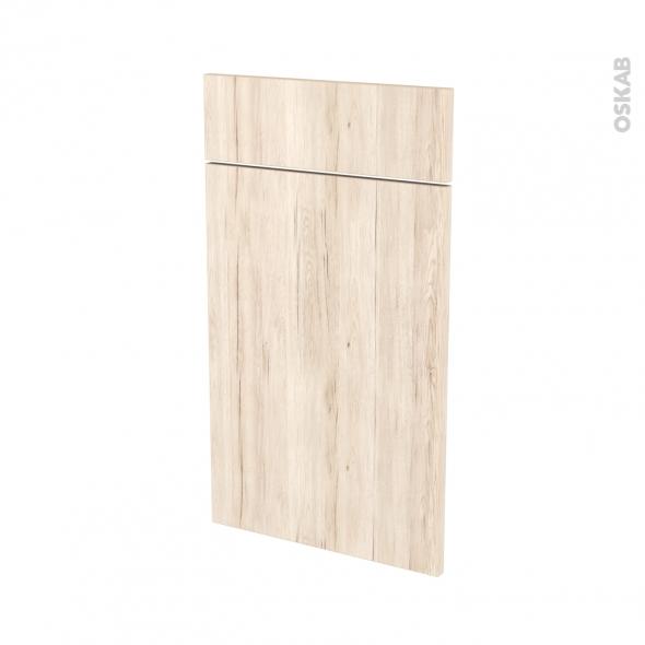 Façades de cuisine - 1 porte 1 tiroir N°51 - IKORO Chêne clair - L40 x H70 cm
