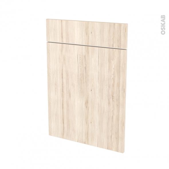 Façades de cuisine - 1 porte 1 tiroir N°54 - IKORO Chêne clair - L50 x H70 cm