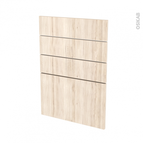 Façades de cuisine - 4 tiroirs N°55 - IKORO Chêne clair - L50 x H70 cm