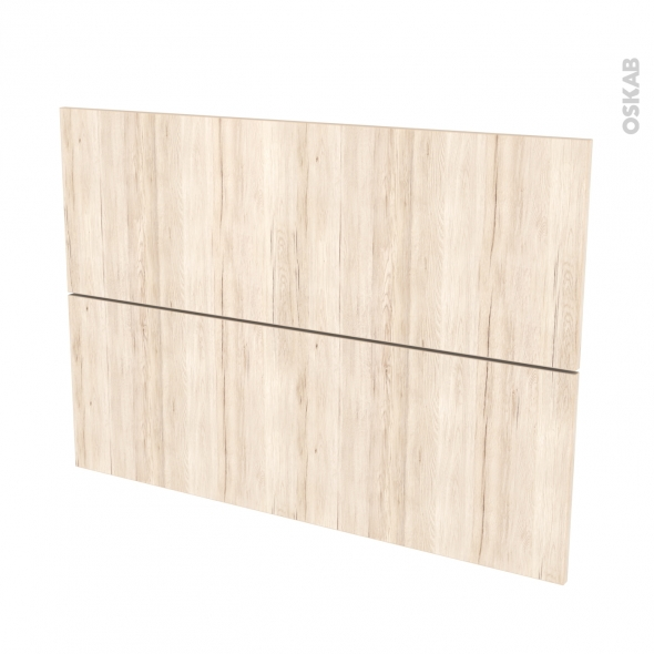Façades de cuisine - 2 tiroirs N°61 - IKORO Chêne clair - L100 x H70 cm