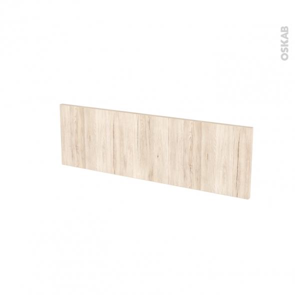 Façades de cuisine - Face tiroir N°39 - IKORO Chêne clair - L80 x H25 cm