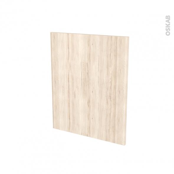 Finition cuisine - Joue N°29 - IKORO Chêne clair - Avec sachet de fixation - L58 x H70 x Ep.1.6 cm