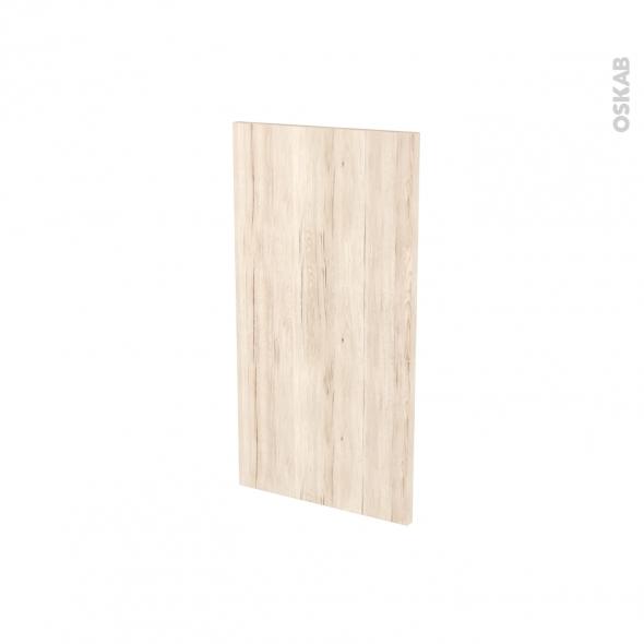 Finition cuisine - Joue N°30 - IKORO Chêne clair - Avec sachet de fixation - A redécouper - L37 x H35 x Ep.1.6 cm