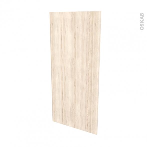 Finition cuisine - Joue N°33 - IKORO Chêne clair - Avec sachet de fixation - L58 x H125 x Ep.1.6 cm