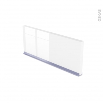 Plinthe de cuisine - IPOMA Blanc brillant - avec joint d'étanchéité - L220xH15,4