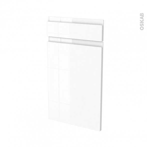 Façades de cuisine - 1 porte 1 tiroir N°51 - IPOMA Blanc - L40 x H70 cm
