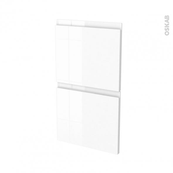Façades de cuisine - 2 tiroirs N°52 - IPOMA Blanc - L40 x H70 cm