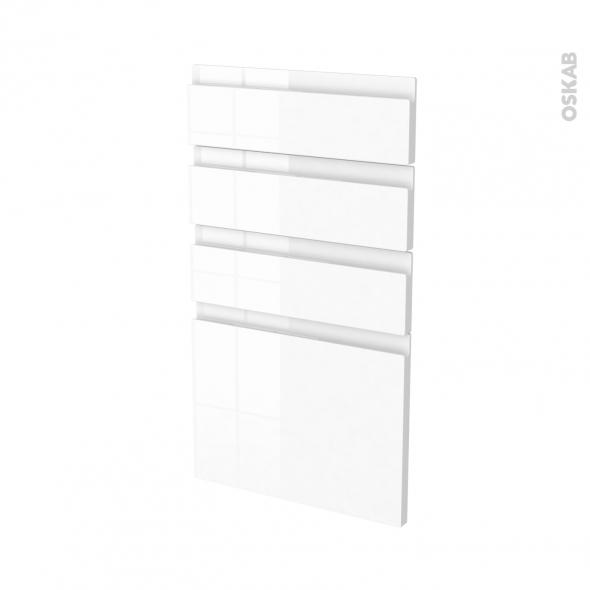 IPOMA Blanc - façade N°53 4 tiroirs - L40xH70