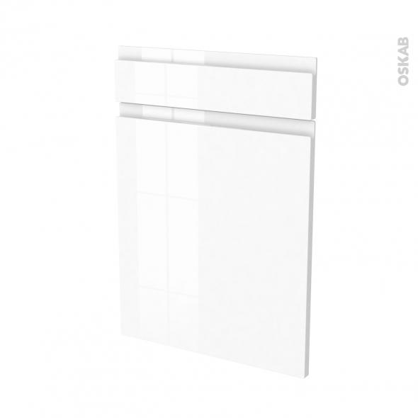 IPOMA Blanc - façade N°54 1 porte 1 tiroir - L50xH70