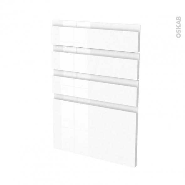 IPOMA Blanc - façade N°55 4 tiroirs - L50xH70