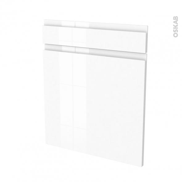 Façades de cuisine - 1 porte 1 tiroir N°56 - IPOMA Blanc brillant - L60 x H70 cm